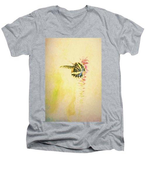 Prairie Butterfly 3 Men's V-Neck T-Shirt