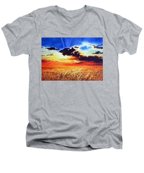 Prairie Gold Men's V-Neck T-Shirt