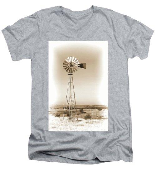 Prairie Guardian Men's V-Neck T-Shirt by Sylvia Thornton