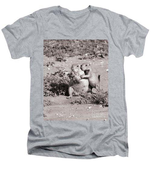 Prairie Love Men's V-Neck T-Shirt by Alycia Christine