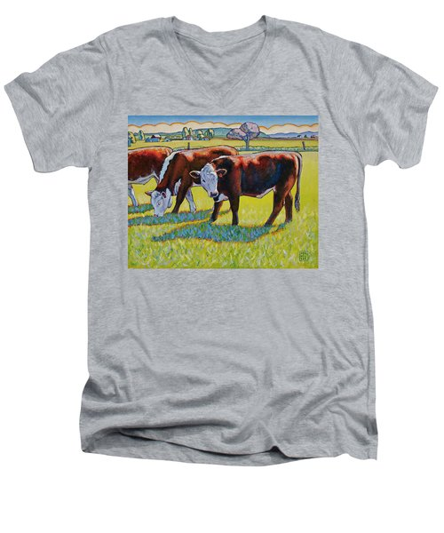 Prairie Lunch Men's V-Neck T-Shirt