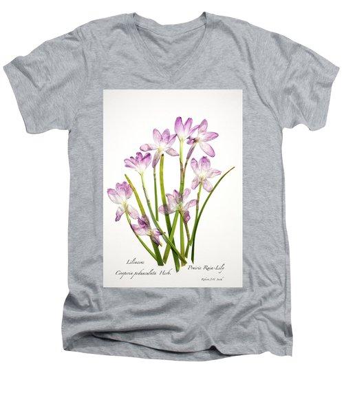 Prairie Rain Lily Men's V-Neck T-Shirt