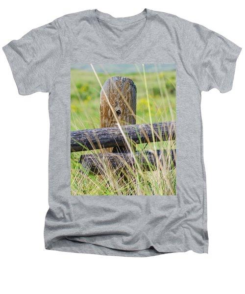 Prairie's Edge Men's V-Neck T-Shirt
