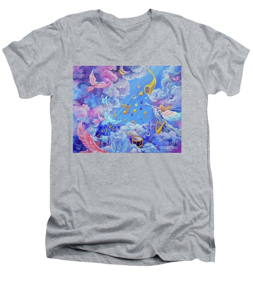 Praise Him From The Heavens Men's V-Neck T-Shirt