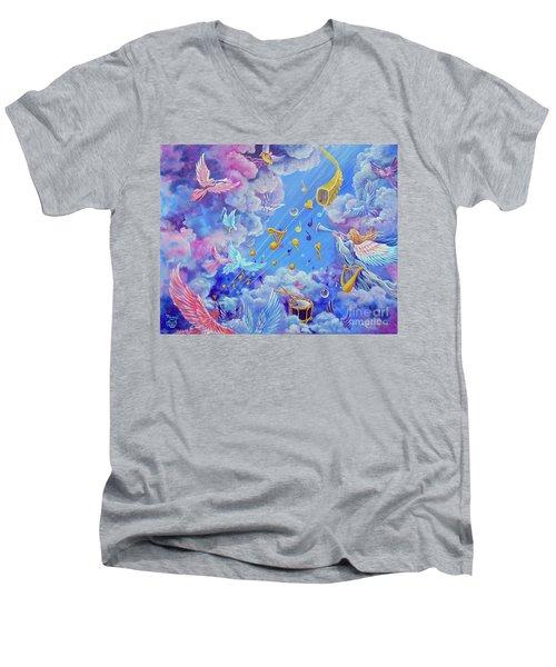 Praise Him From The Heavens Men's V-Neck T-Shirt
