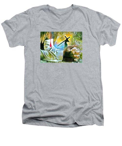 Prayer And The Blood Men's V-Neck T-Shirt
