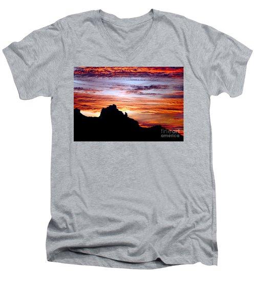 Praying Monk, Camelback Mountain, Phoenix Arizona Men's V-Neck T-Shirt
