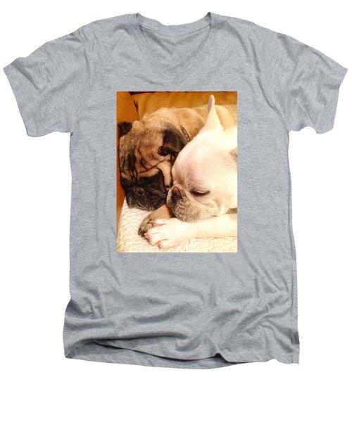 Praying Paws Men's V-Neck T-Shirt