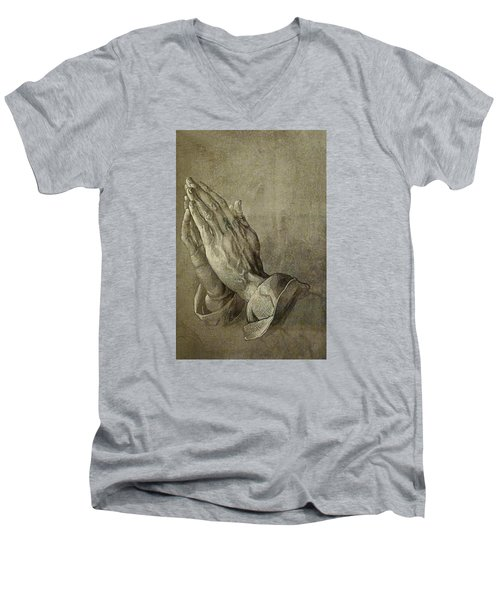 Praying Hands Men's V-Neck T-Shirt