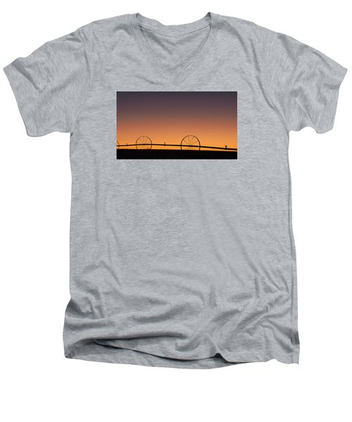 Pre-dawn Orange Sky Men's V-Neck T-Shirt