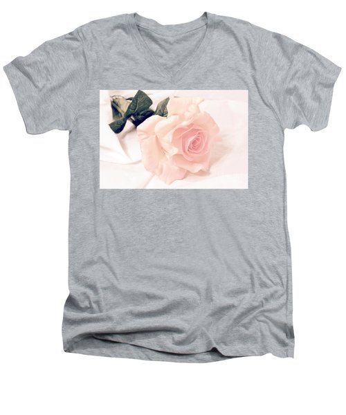 Precious Love Men's V-Neck T-Shirt by Jeannie Rhode
