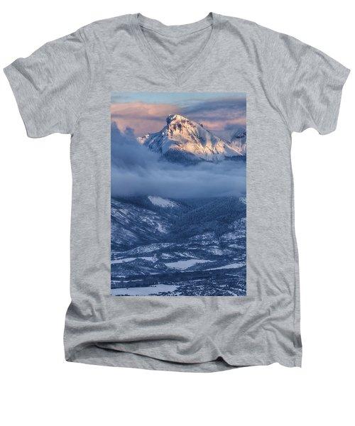 Precipice Smiling Men's V-Neck T-Shirt