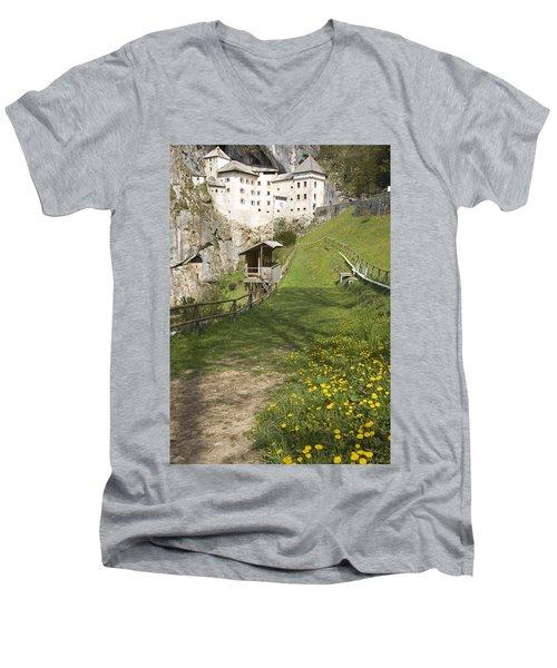 Predjama Castle Men's V-Neck T-Shirt
