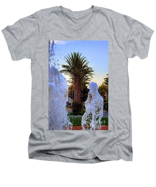 Men's V-Neck T-Shirt featuring the photograph Pregnant Water Fairy by Mariola Bitner