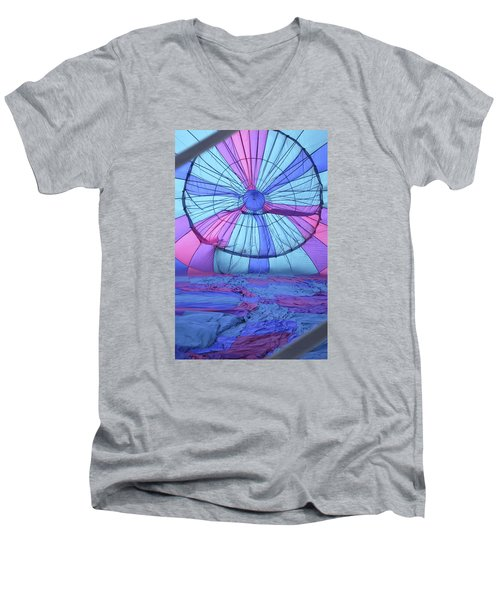 Preparing For Lift Off Men's V-Neck T-Shirt by Linda Geiger