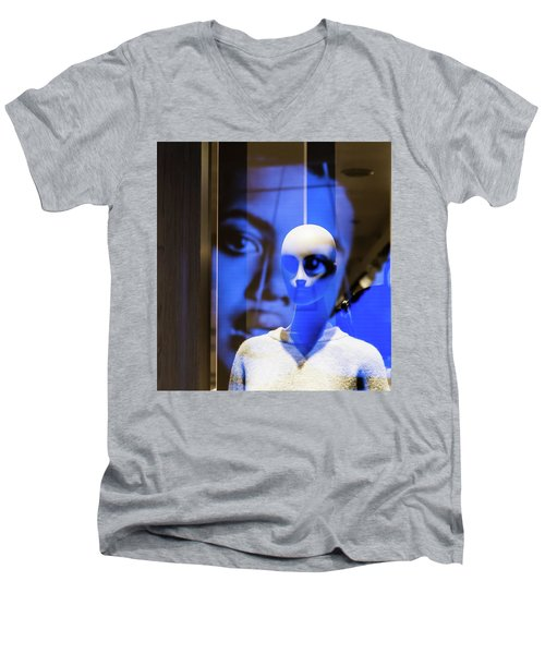 Men's V-Neck T-Shirt featuring the photograph Presence by Alex Lapidus