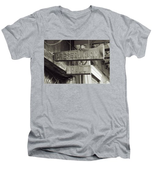 Preservation Hall, French Quarter, New Orleans, Louisiana Men's V-Neck T-Shirt