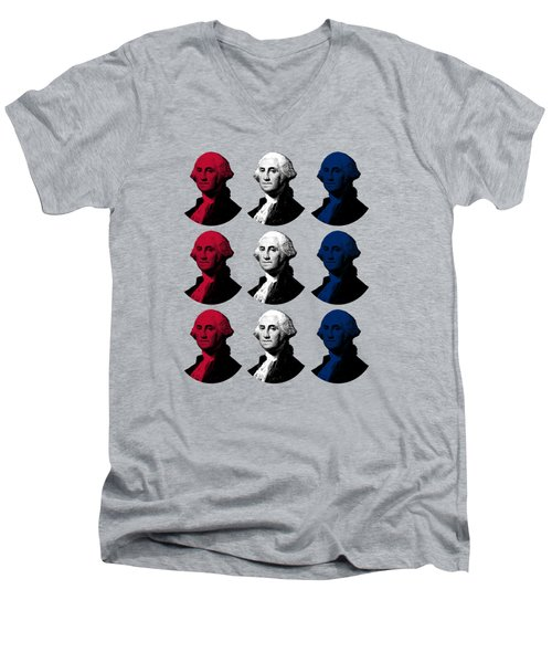 President George Washington - Red, White, And Blue  Men's V-Neck T-Shirt