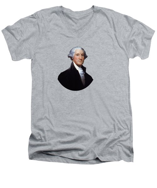 President George Washington Men's V-Neck T-Shirt by War Is Hell Store