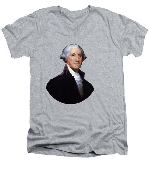 President George Washington Men's V-Neck T-Shirt