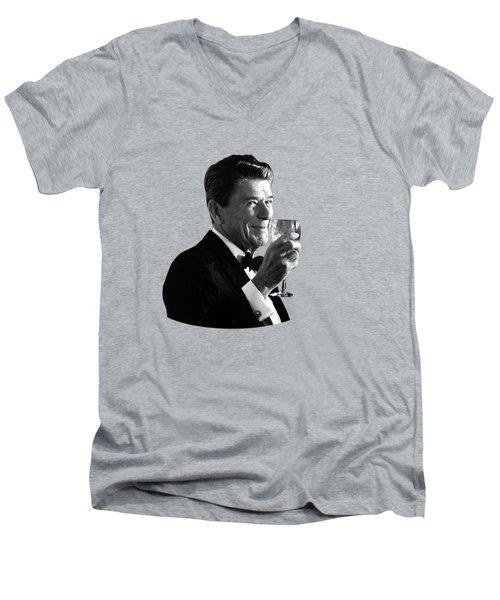 President Reagan Making A Toast Men's V-Neck T-Shirt