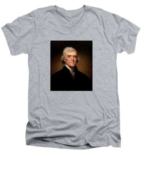 President Thomas Jefferson  Men's V-Neck T-Shirt