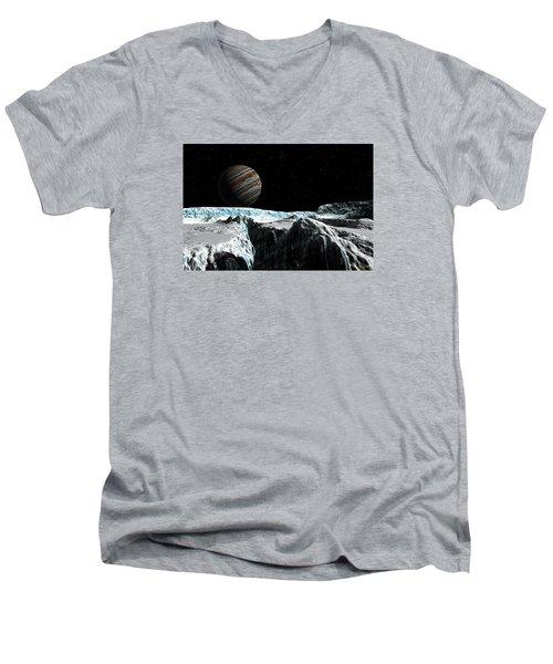 Pressure Ridge On Europa Men's V-Neck T-Shirt