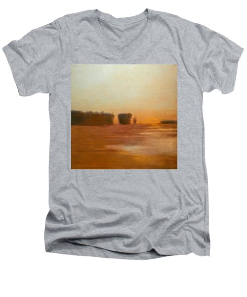 Preston After Spring Rain Creek Flood Men's V-Neck T-Shirt