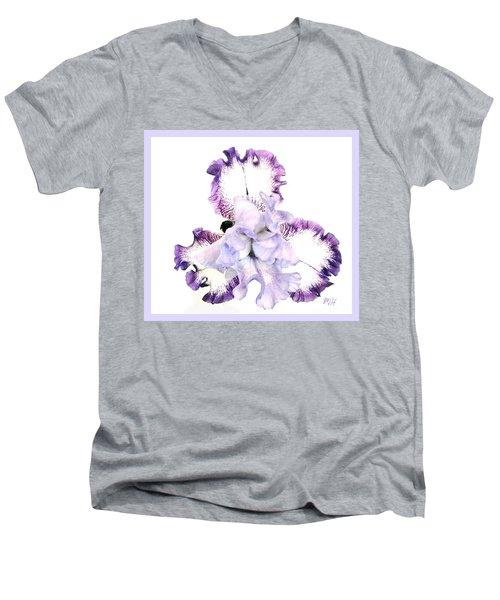 Pretty Baby Iris Men's V-Neck T-Shirt by Marsha Heiken
