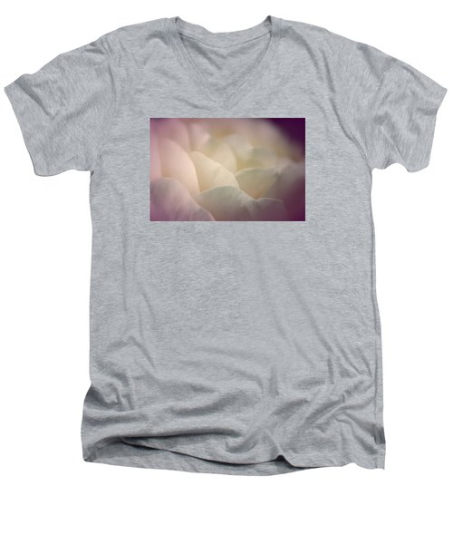 Men's V-Neck T-Shirt featuring the photograph Pretty Cream Rose by The Art Of Marilyn Ridoutt-Greene