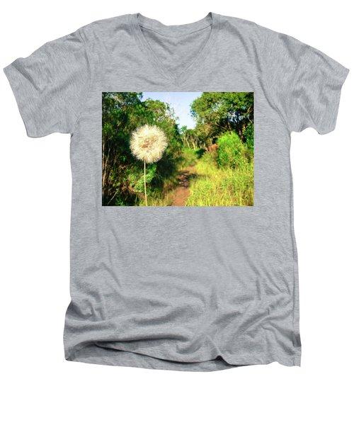 Pretty Dandelion In The Atlantic Forest Men's V-Neck T-Shirt