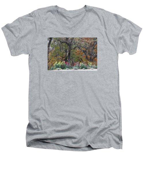 Pretty Display Men's V-Neck T-Shirt by Yumi Johnson