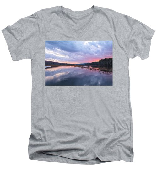 Pretty In Pink Men's V-Neck T-Shirt by Angelo Marcialis