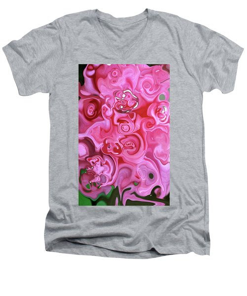 Men's V-Neck T-Shirt featuring the photograph Pretty In Pink by JoAnn Lense