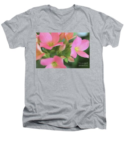 Pretty In Pink Men's V-Neck T-Shirt by Victor K