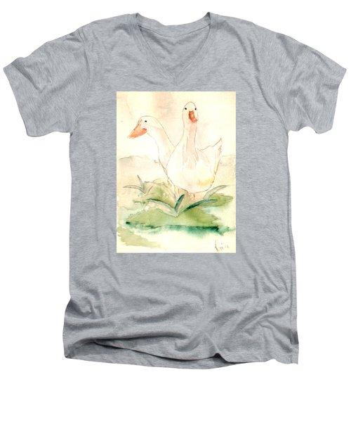 Pretty Pekins Men's V-Neck T-Shirt