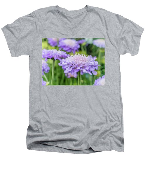 Men's V-Neck T-Shirt featuring the photograph Pretty Purple by Nick Bywater