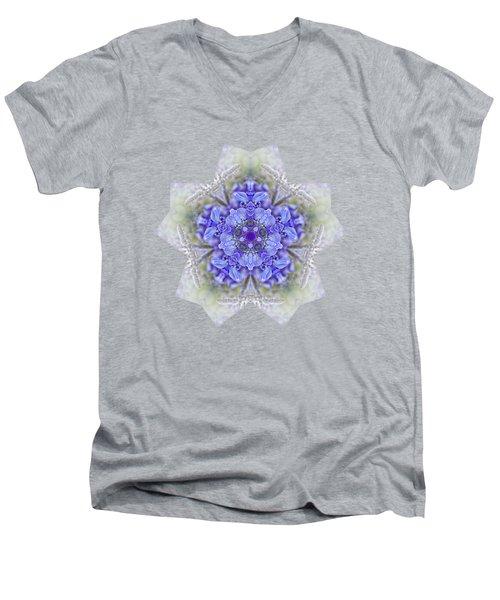 Pretty Wisteria Kaleidoscope By Kaye Menner Men's V-Neck T-Shirt by Kaye Menner