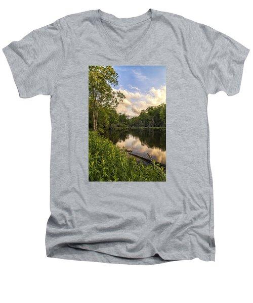 Price Lake Sunset - Blue Ridge Parkway Men's V-Neck T-Shirt
