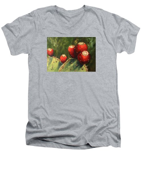 Prickly Pear IIi Men's V-Neck T-Shirt by Torrie Smiley