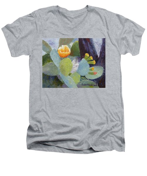 Prickly Pear In Bloom Men's V-Neck T-Shirt