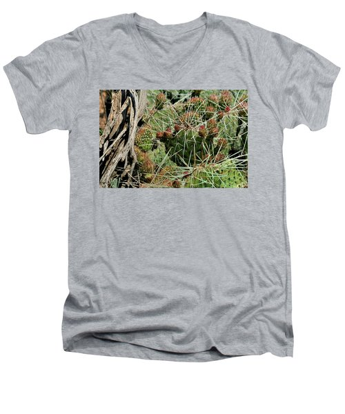 Prickly Pear Revival Men's V-Neck T-Shirt