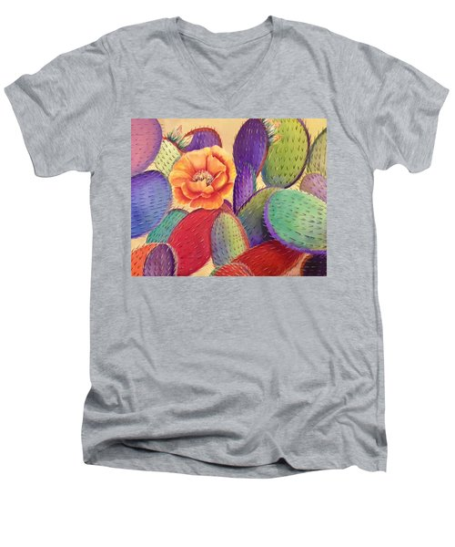 Prickly Rose Garden Men's V-Neck T-Shirt