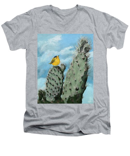 Prickly View - Wildlife Painting Men's V-Neck T-Shirt