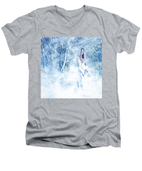 Priestess Men's V-Neck T-Shirt by John Edwards