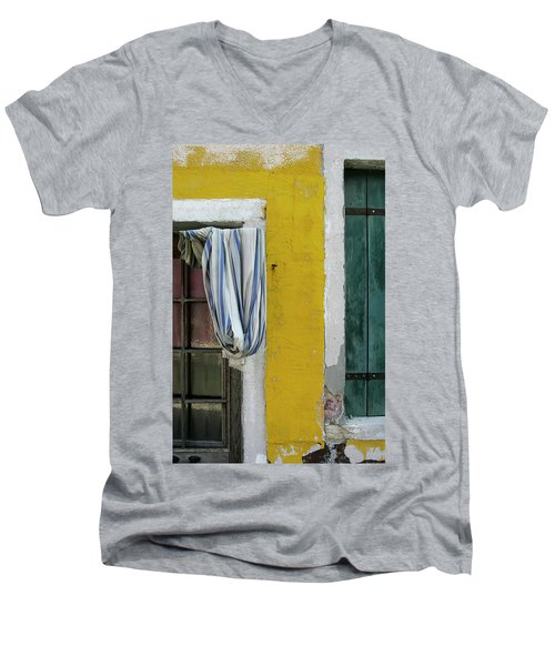 Primary Colours Of Burano Men's V-Neck T-Shirt