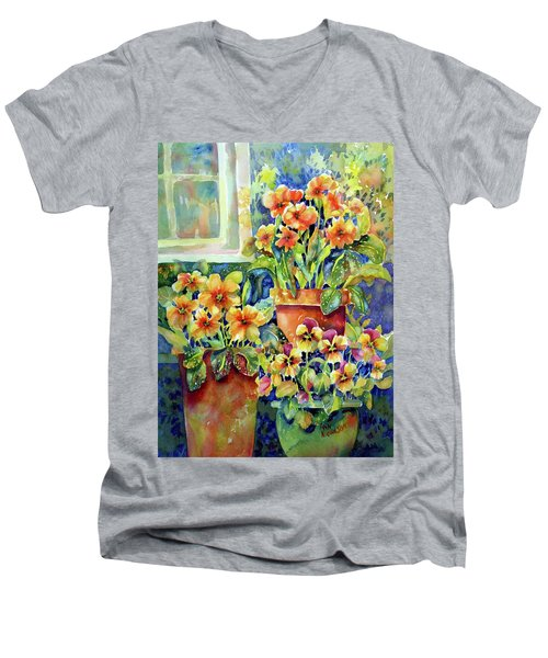Primroses And Pansies II Men's V-Neck T-Shirt