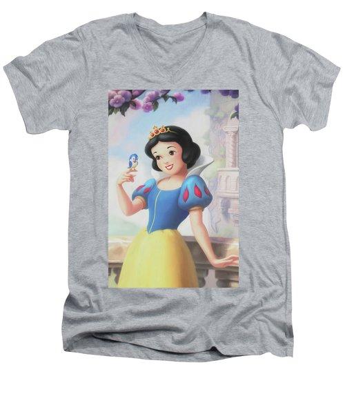 Princess Snow White Men's V-Neck T-Shirt by The Art Of Marilyn Ridoutt-Greene