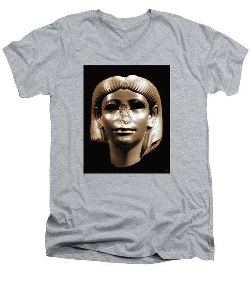 Princess Sphinx Men's V-Neck T-Shirt by Nigel Fletcher-Jones