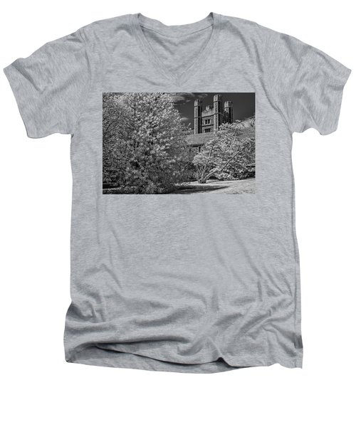 Men's V-Neck T-Shirt featuring the photograph Princeton University Buyers Hall by Susan Candelario